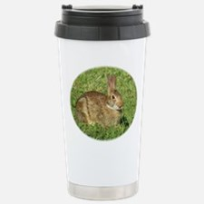 Bunny With Tongue Out Stainless Steel Travel Mug