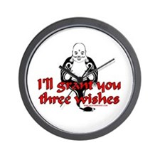 I'll Grant You Three Wishes Wall Clock