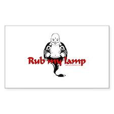 Rub My Lamp Rectangle Decal