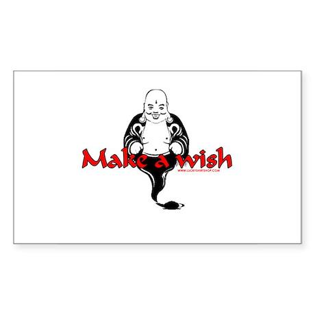 Make A Wish Rectangle Sticker