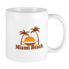 Miami Beach - Palm Trees Design. Mug