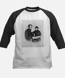 Lincoln Reading to Son Tod Tee