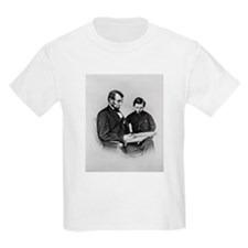 Lincoln Reading to Son Tod Kids T-Shirt