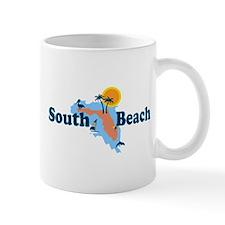 South Beach - Map Design. Mug