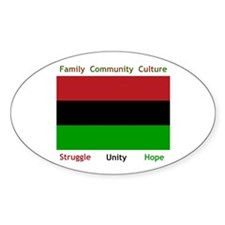 Bendera Kwanzaa Colors Oval Decal
