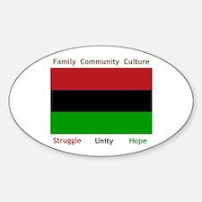 Bendera Kwanzaa Colors Oval Decal