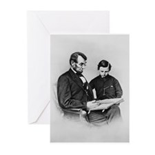 Lincoln and Son Tod Christmas Cards (Pkg 10)