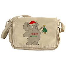 MERRY XMAS ELEPHANT Messenger Bag