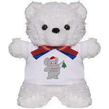 MERRY XMAS ELEPHANT Teddy Bear