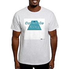 Cornhole King Ash Grey T-Shirt