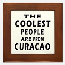 The Coolest Curacao Designs Framed Tile