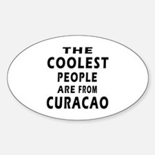 The Coolest Curacao Designs Sticker (Oval)