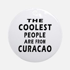The Coolest Curacao Designs Ornament (Round)