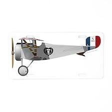 Nieuport 17 Charles Nungesser Aluminum License Pla