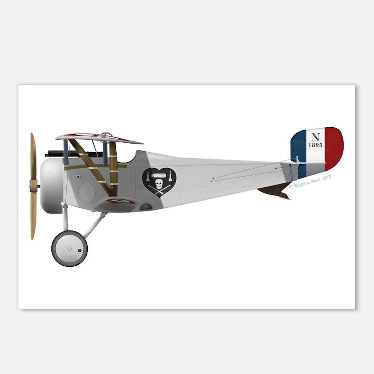 Nieuport 17 Charles Nungesser Postcards (Package o