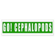 Go Cephalopods Bumper Bumper Sticker