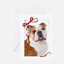 Bulldog Christmas Greeting Cards