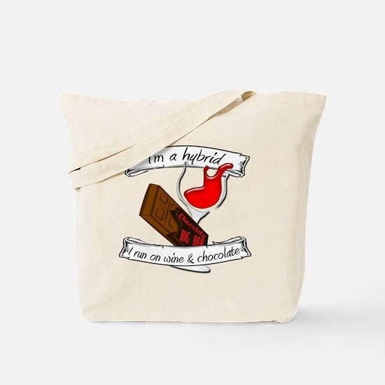Wine Chocolate Hybrid Tote Bag