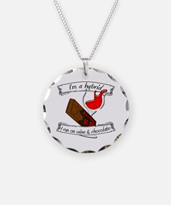 Wine Chocolate Hybrid Necklace