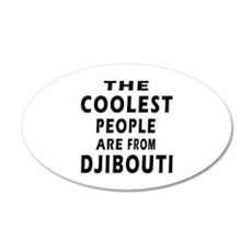 The Coolest Djibouti Designs 20x12 Oval Wall Decal