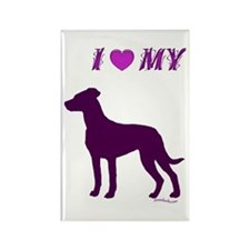 Catahoula Plum Rectangle Magnet
