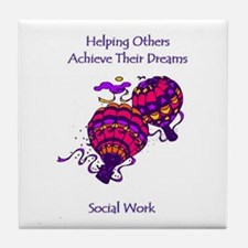 Cute Social work month Tile Coaster