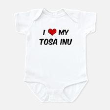 I Love: Tosa Inu Infant Bodysuit