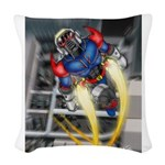 jump jetcolor.jpg Woven Throw Pillow