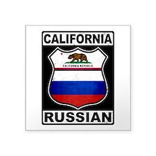 California Russian American Sticker