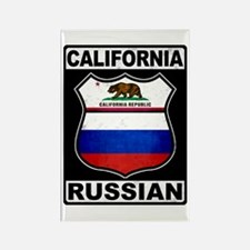 California Russian American Rectangle Magnet