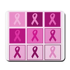Pink Ribbon Multi pink Mousepad