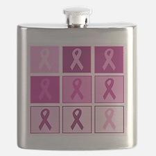 Pink Ribbon Multi pink Flask