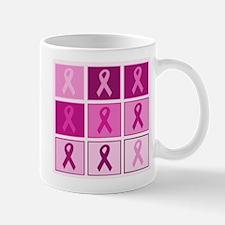 Pink Ribbon Multi pink Mug