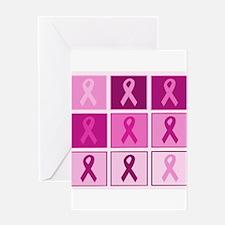 Pink Ribbon Multi pink Greeting Card