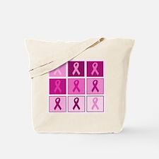 Pink Ribbon Multi pink Tote Bag