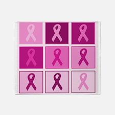 Pink Ribbon Multi pink Throw Blanket