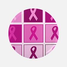 "Pink Ribbon Multi pink 3.5"" Button (100 pack)"