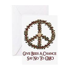 Give Bees A Chance No GMO Greeting Card