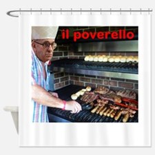 Pope BBQ Barbecue Shower Curtain