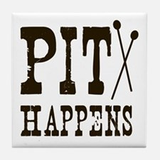 Pit Happens Tile Coaster