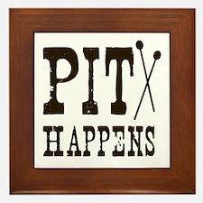 Pit Happens Framed Tile