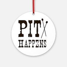 Pit Happens Ornament (Round)