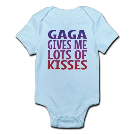 Gaga Gives Me Lots Of Kisses Body Suit