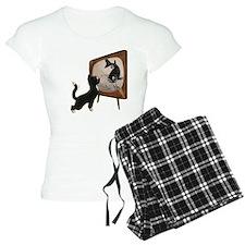 Black Cat and Fish Pajamas