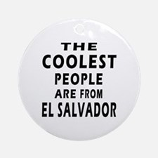 The Coolest El Salvador Designs Ornament (Round)