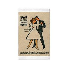 Dancers, Retro, Vintage Ballroom 3'x5' Area Rug