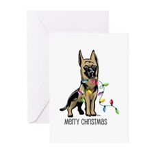 German Shepherd Christmas Greeting Cards (Package