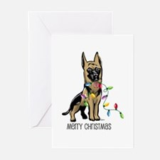 German Shepherd Christmas Greeting Cards (Package