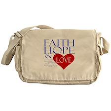 Faith Hope Love Messenger Bag