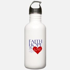 Faith Hope Love Water Bottle